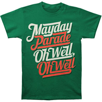 Mayday Parade Men's  Oh Well, Oh Well T-shirt Green Rockabilia