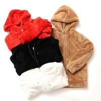 Champion Warm Plush Long Sleeve Zip Up Hoodie Jacket