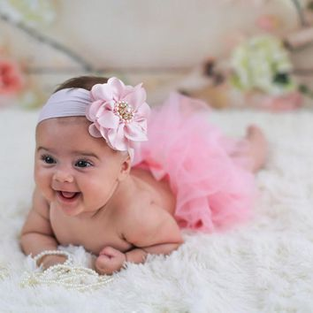 Summer Cute Baby Diaper Cover Flower Shorts+Toddler Baby Cotton Chiffon Ruffle Bloomers With Floral Headband