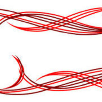 Red Pin Stripe Scroll Auto Decal