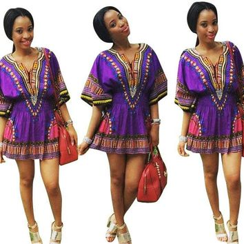 Thai Dashiki Purple Dress