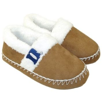 Duke Blue Devils Ladies Step In Slippers - Khaki