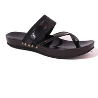 Sigerson Morrison Black Patent Leather & Canvas Strappy Wedge Sandals Shoes 8