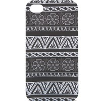 With Love From CA Black White Tribal Print iPhone 4/4S Case - Womens Scarves - Black - NOSZ