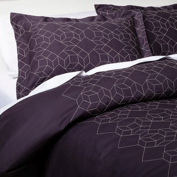 Nate Berkus™ Pick Stitch Geo Duvet Cover Set