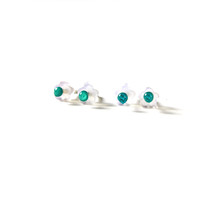 Tiny Green Turquoise Studs