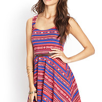 Southwestern Print Skater Dress