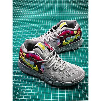 KWAS x Nike Kyrie 4 Graffiti Sport Basketball Shoes