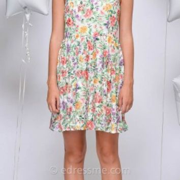 Milany All Over Floral Day Dress by Greylin