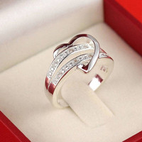 NEW Nice 925 Silver Gemstone Heart Love Women Wedding Ring Size 6 7 8 9 Quality = 1946484804