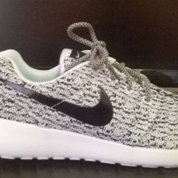 38fe30ede1b custom nike roshe yeezy boost 350 run sneakers athletic running womens  gray white colo
