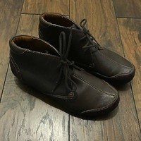 Taos Footwear Chocolate Brown Leather Shoes Womens US 9 EUR 39 UK 6