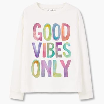 "Sweatshirt ""Good Vibes Only"""