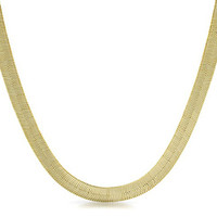 The God Or Guns 14K Gold Plated Herringbone Chain