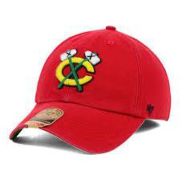 Mitchell & Ness Chicago Blackhawks Alternate Logo Snapback Adjustable Cap~Red
