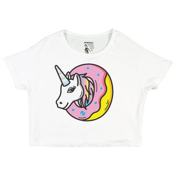 UNICORN DONUT GIRLS CROP TOP WHITE – Odd Future