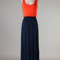 Game Day Maxi -- Navy/Orange