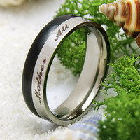 "Ring for Mom - Mother Ring Engraved on Inside with ""All I Am I Owe To My Mother"", Sizes 6 to 9"