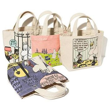 Japan Cute Moomin Little My Girl Lunch Bag Tote Handle Bag Women Handbag Birthday Gift