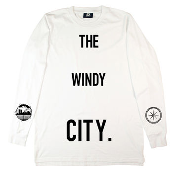 White Windy City Long Sleeve