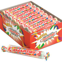 Mega Smarties Candy Rolls: 24-Piece Box