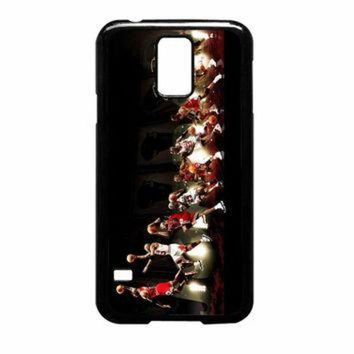CREYUG7 Michael Jordan NBA Chicago Bulls Dunk Samsung Galaxy S5 Case