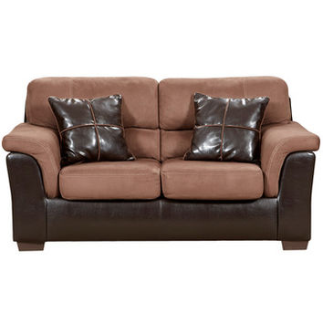 Flash Furniture Exceptional Designs Laredo Chocolate Microfiber Loveseat