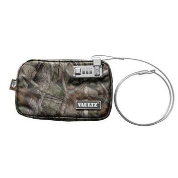 Vaultz Water-Resistant Small Locking Field Pouch with Tether, Camo