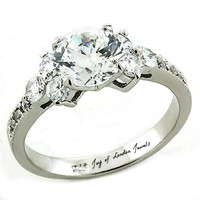 A Perfect 1.8CT Round Cut Russian Lab Diamond Promise Engagement Anniversary Wedding Ring