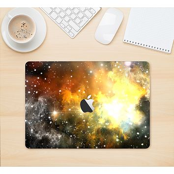 "The Glowing Gold & Black Nebula Skin Kit for the 12"" Apple MacBook"