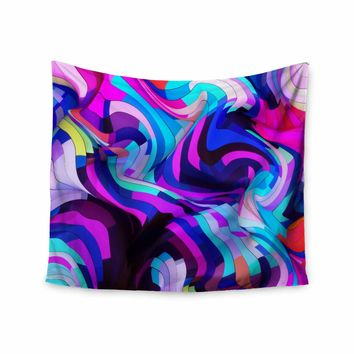 "Danny Ivan ""Light Year"" Pink Blue Digital Wall Tapestry"