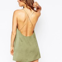 ASOS Open Back Lace Panel Slip