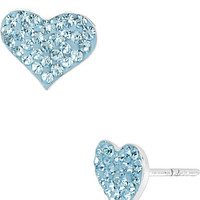 BetseyJohnson.com - BLUE PAVE HEART EARRING BLUE