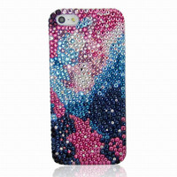 Starry Ombre Galaxy Rhinestone Handmade Phone Case For iPhone 5