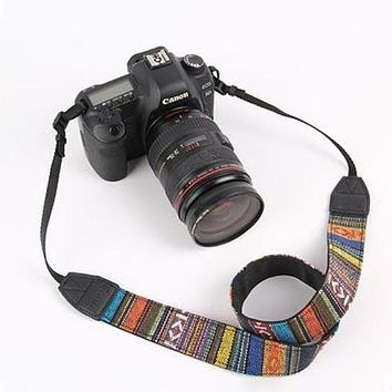 Camera Straps Retro Vintage Aztec Ethnic Neck Strap