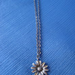 Sunflower Charm Necklace on Short Chain