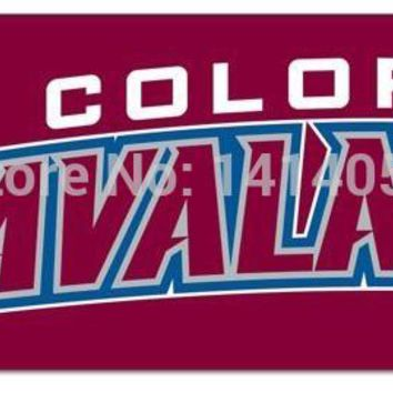 Colorado Avalanche NHL Tailgate Flag 2x8FT Banner