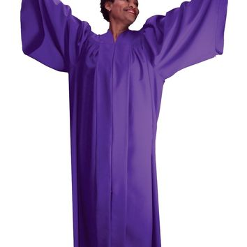 Regal Robes 9081 Batwing Sleeve on Yoke Neckline Zip Front Unisex Robe