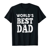 World's Best Dad T-Shirt for Fathers Day or Birthday