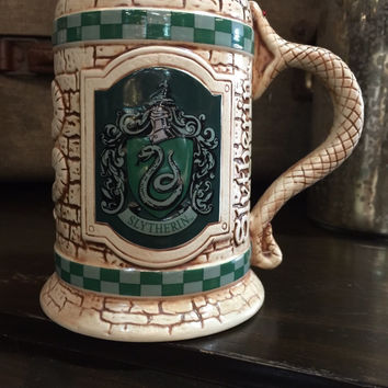 Universal Studios The Wizarding World Harry Potter Slytherin Stein Coffe Mug New
