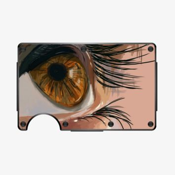 Depth of an Eye shows the depth of your character, Aathira Mohan Aluminum Wallet