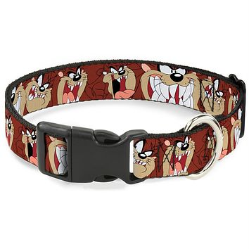 Buckle-Down Tasmanian Devil Expressions Pet Collar
