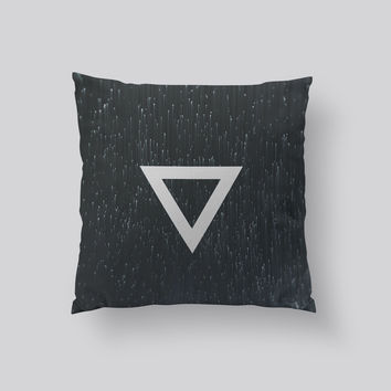 Throw Pillows for Couches / Triangle Rain by Leftfield_Corn