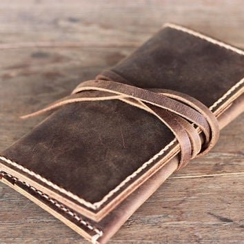 PERSONALIZED WALLET  Leather iPhone 5 Wallet Case Rope by JooJoobs