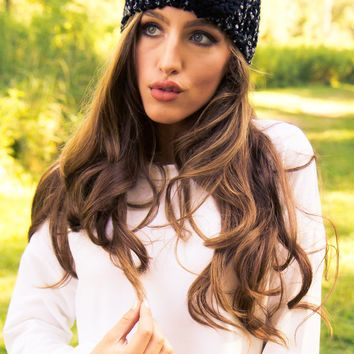 Black Bow Winter Headband - Final Sale