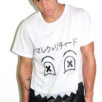 Monster Face Tunic Tee- White