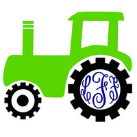 Monogram Decal with Tractor Decal Add Personality to Christmas Gifts, Great personal Gift, Gift Wrap Option, Personalize So Many Things