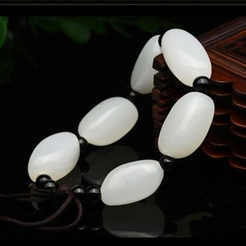 Free shipping Natural Fashion White Boutique Afghanistan Nephrite Bracelet Bangles Unique  for Men and women Jades Jewelry