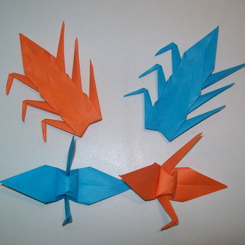 Origami Crane, wedding crane, Set of 1000 wedding decor origami crane, blue crane, orange crane, origami crane, decoration crane