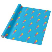 boy wrapping paper